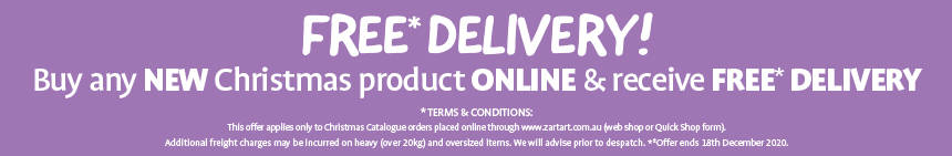 Free Delivery! Buy any new Christmas product online and receive free delivery