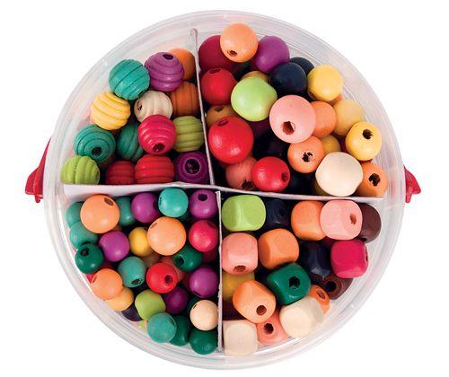 Basics Wooden Beads 575g - ZartArt Catalogue