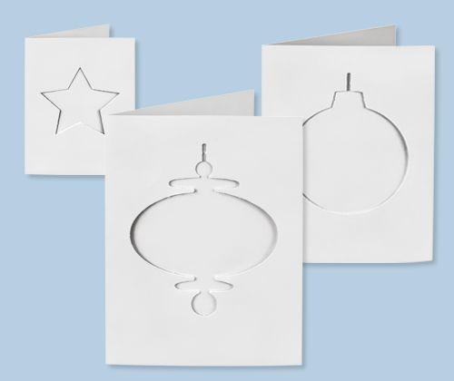 Cards & Envelopes 30's Xmas Cut-Outs