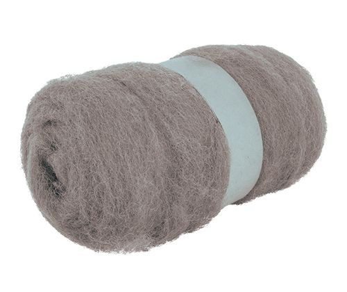 Crafting Combed Wool 100g Grey
