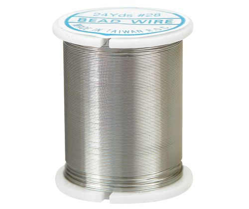 Beading Wire 22m Silver