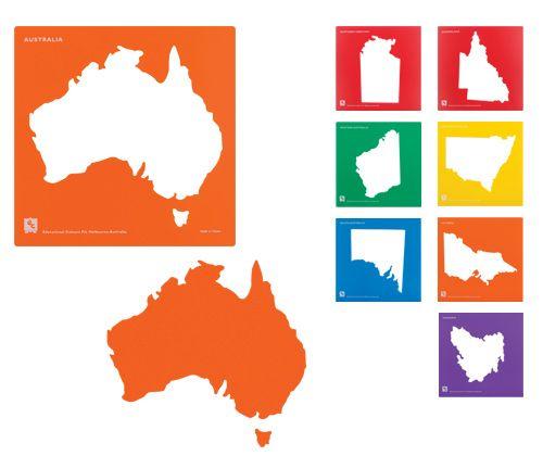 Map Of Australia By State.Stencil Set Australia State Maps 8 S Zartart Catalogue