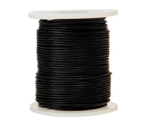 Leather Cord 1.5mm x 50m Black