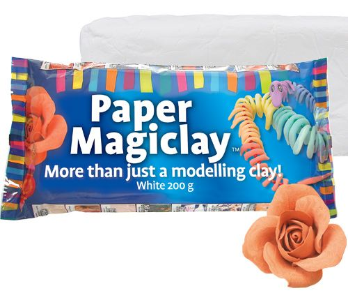 Paper Magiclay 200g White – Flat Pack