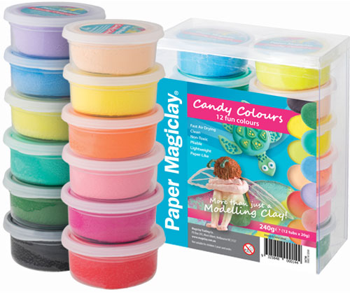 Paper Magiclay 240g Candy Colours