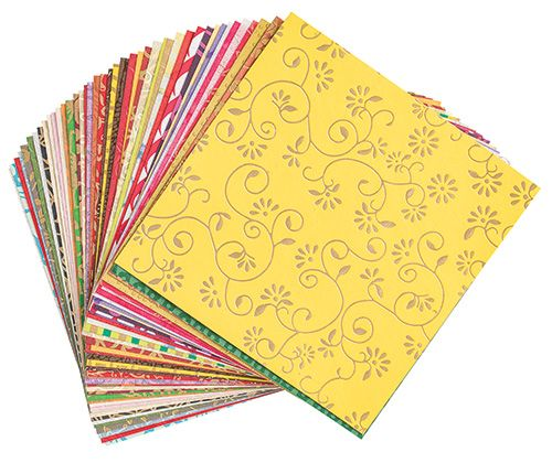 Handmade Decorative Paper 15 x 15cm 50's