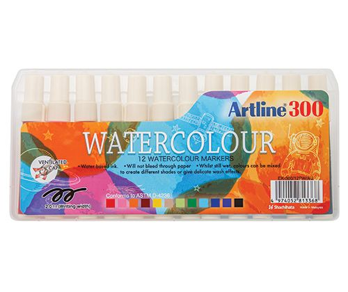 Artline Liquid Crayons 12's (Watersoluble Markers)