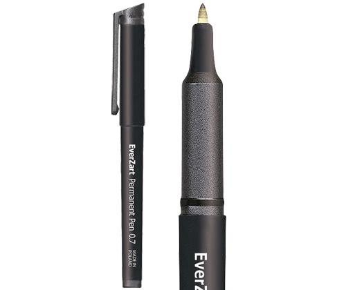 EverZart Permanent Pen Black 20's