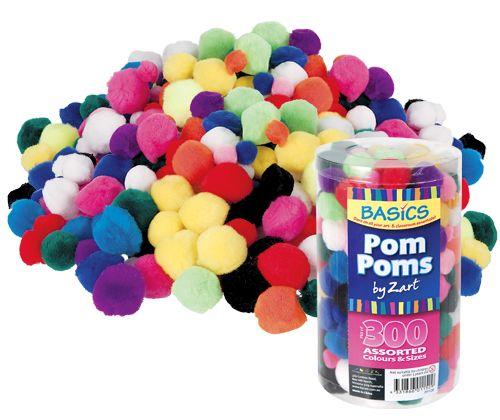 Basics Pom Poms Asst 300's