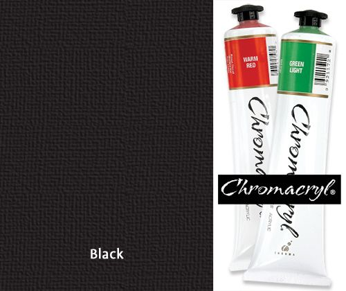 Chromacryl Paint 75mL Black