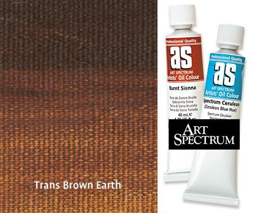 A/S Oil Paint S1 40mL Transparent Brown Earth - ZartArt