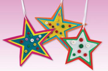 Felt Star Baubles