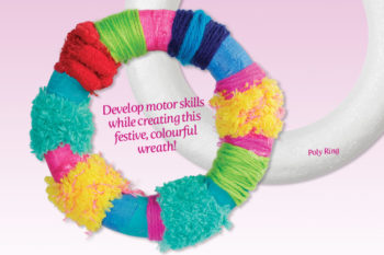 Colourful Banded Wreath