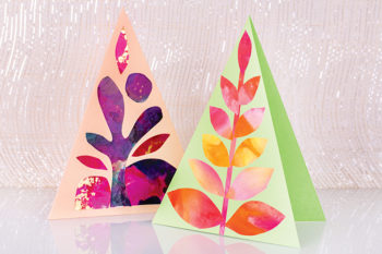 Pastel Triangle Cards