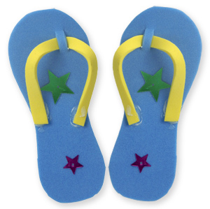 Craft Foam Thongs Activity
