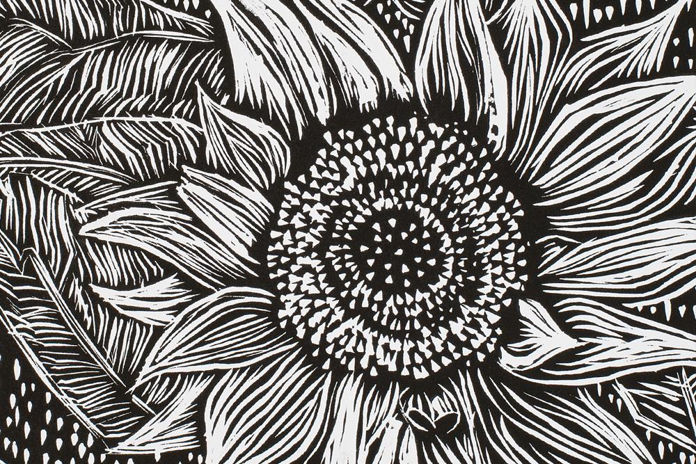 Sunflower Lino Prints Zartart