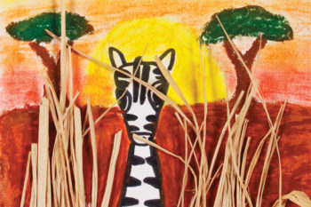Zebras in Mixed Media Term 4 2014