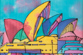 Famous Buildings Silk Paintings Term 4 2016