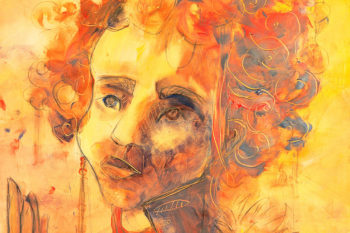 Expressionist mixed media portraits