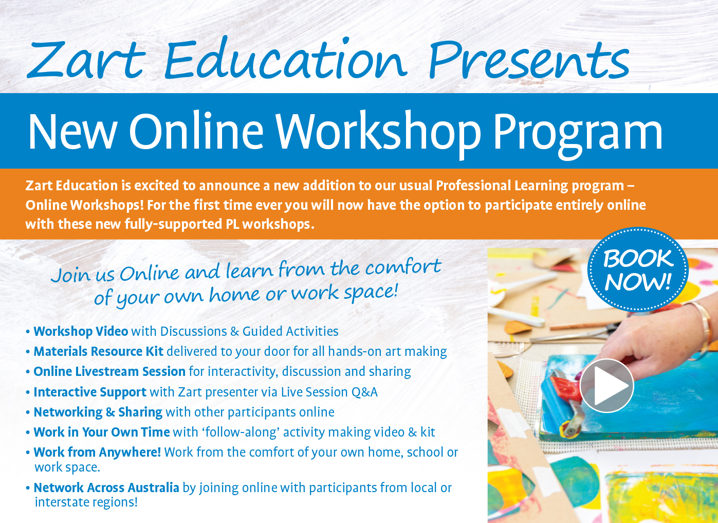 Online Workshops Information Banner