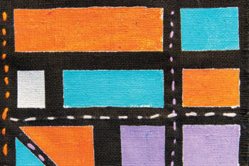 Mondrian Inspired Textile Paintings