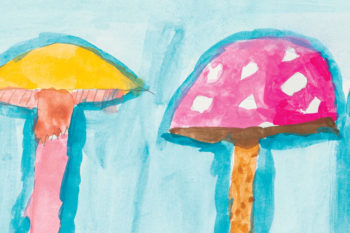Watercolour Mushrooms