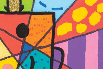 Romero Britto Inspired Book Characters