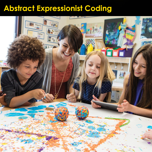 Icon Image Abstract Expressionist Coding NC Conf 2019