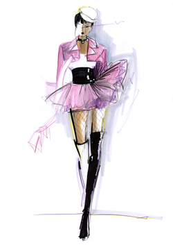 Angie Rehe Pink Fashion Illustration