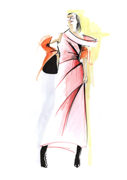 Angie Rehe Red Fashion Illustration