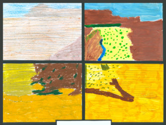 Four Sections of Australian Landscape Artwork Term 3 2007
