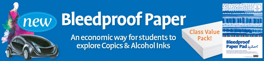 Bleedproof Paper - An ecinomic way for students to explore Copics & Alchohol Inks