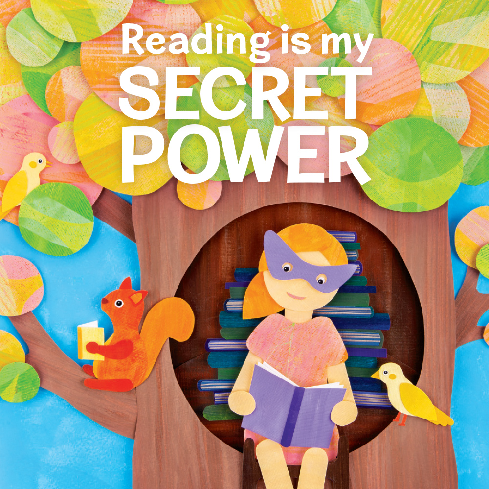 Book Week 2019 Reading is My Secret Power - Square