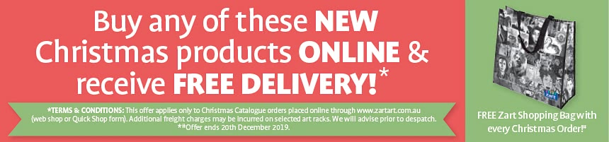Buy any of these NEW Christmas products ONLINE & recieve FREE DELIVERY!*
