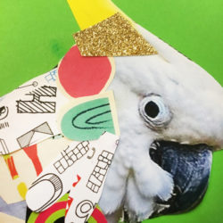 Collage Cockatoo Zart Education At-Home Art Lesson by Kylie Wickham