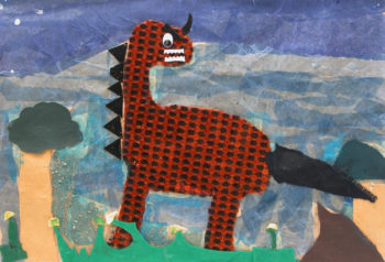 Dinosaurs Mixed Media Collages Term 2 2006