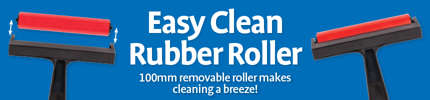 Easy Clean Rubber Roller - 100mm removable roller makes cleaning a breeze!