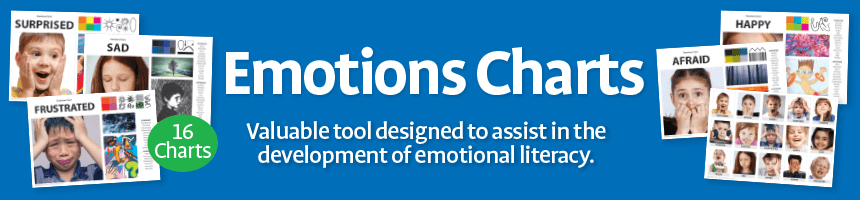 Emotions Charts - Valuble tool designed to assist in the development of emotional literacy.