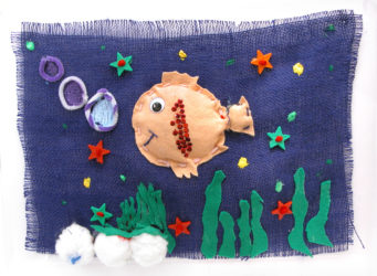 Padded Shape Animal Fabric Collages Term 1 2006