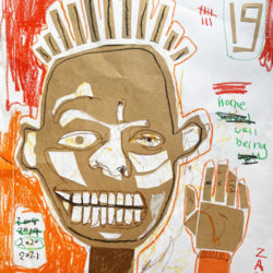 Hey Hey It's Basquiat! Self Portraits Zart Education At-Home Art Lesson by Nic Plowman
