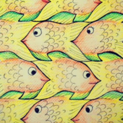 Escher's Eye: Exploring Optical Illusions - Tessellated Fish by Zart Education