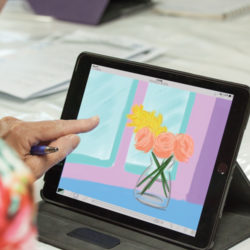 Zart Education iPad Art Flowers for Hockney Online Webinar Workshop
