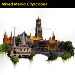 Icon Image Mixed Media Cityscapes NC Conf 2019