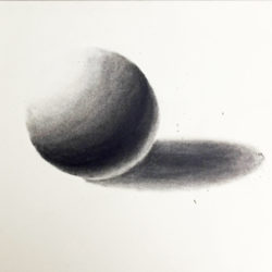 I Can't Draw - Rendered sphere with drawing mediums