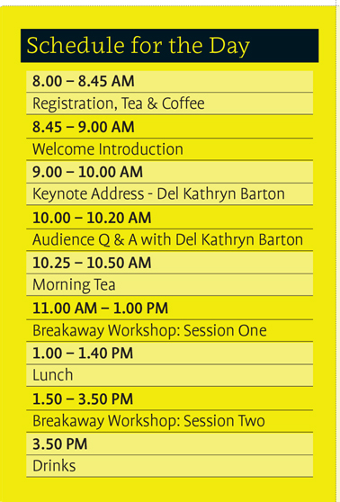 Schedule for the day. 8-8:45am