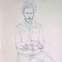 Peter Wegner portrait of a man sitting