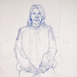 Peter Wegner portrait of a woman - Drawing & The Artist's Mark masterclass workshop
