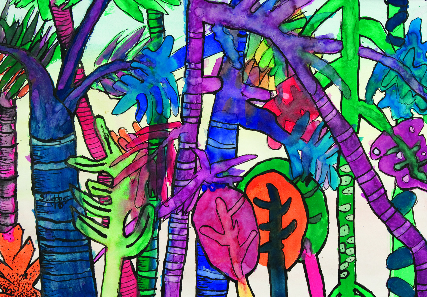 Rainforest Paintings 15
