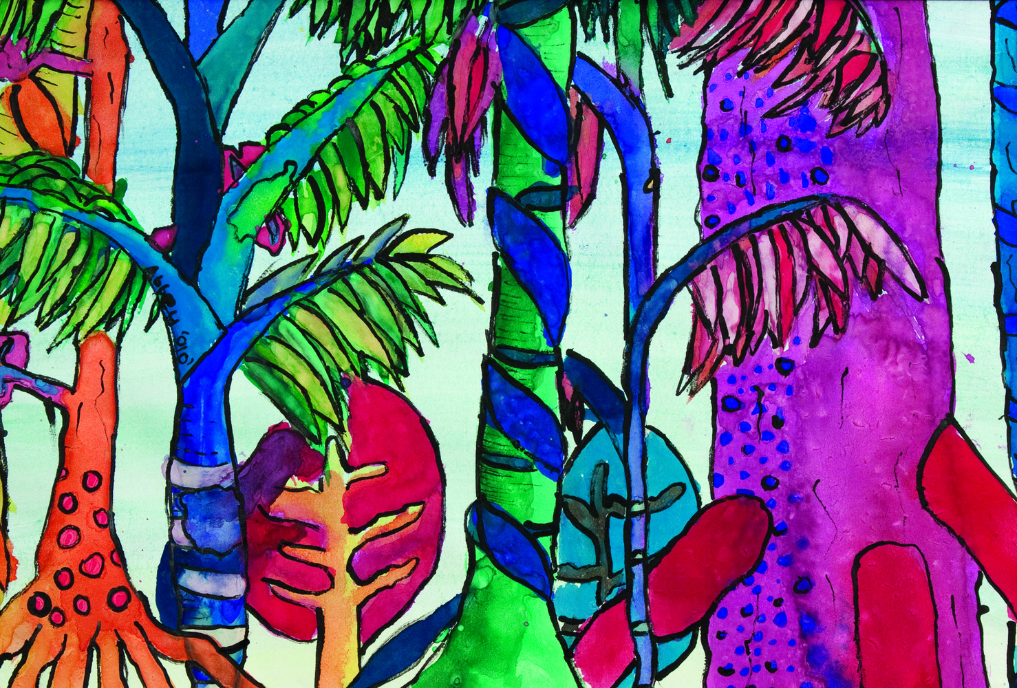 Rainforest Paintings 8
