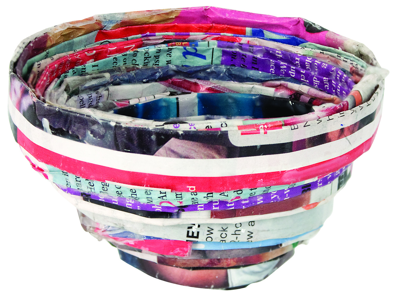 Recycled Magazine Bowls 3